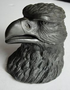 Antique-Pewter-Eagles-Head-Inkwell