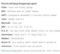Bts yeah pretty much but EXO... that just ain't right, true, but ain't right