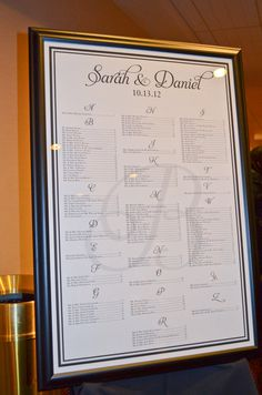 Elegant Seating Chart Idea Layered Table Assignments