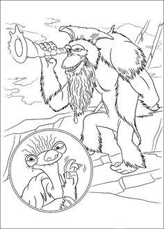 Ice Age Målarbilder för barn. Teckningar online till skriv ut. Nº 6