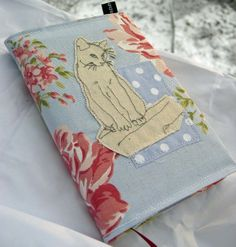 Textile Freehand Embroidered Cat Journal £18.00