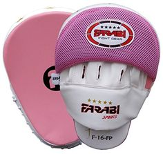 Curved Focus Pads Hook  Jab Mitts Boxing Training Pads Real leather by farabi by Farabi Sports >>> Read more at the image link.
