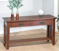 Jofran Roycroft 036-4 - Sofa Table with 2 Drawers by Jofran. $282.00. The Jofran Roycroft 36-4 - Sofa Table with 2 Drawers faithfully represents Stickley and Roycroft's refinement of the arts and crafts movement that became the most popular Mission style Attention to detail abounds with pierced wrought iron style drawer pulls walnut bowtie inlays drawer storage and mortise and tenon as well as dowel joinery treatments The Jofran Roycroft 36-4 - Sofa Table with...