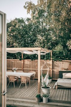 Outdoor Furniture Sets, Outdoor Decor, Pergola Patio, Terrace Garden, Porch, Villa, Home And Garden, House Styles, Plank