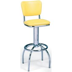 Diner Stool - This timeless, unique barstool is the perfect design to accent your eatery! The 300 series barstools offer an attractive arched leg and single-ring . Retro Bar Stools, Unique Bar Stools, Bar Stools For Sale, Stools With Backs, Restaurant Furniture, Foot Rest, Chrome Finish, Ring Designs, Chair
