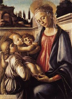 Madonna and Child and Two Angels - Sandro Botticelli