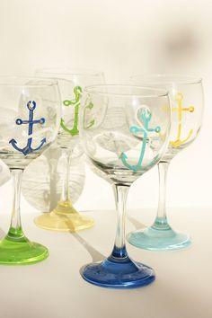 Anchor Set of 4 Wine Glasses
