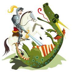 Sant Jordi Photo Art, Folk Art, Saint George, Saint George And The Dragon, Illustration, Art, Cartoon, Fairy Tales, Photo Illustration