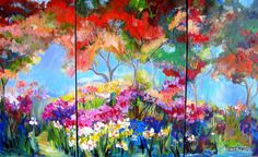 Large Original Painting Landscape  Abstract by ElainesHeartsong