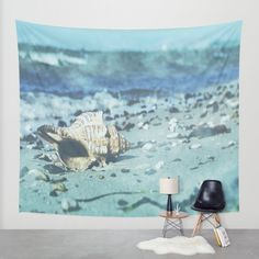 Shell on the beach Wall Tapestry by Tanja Riedel | Society6