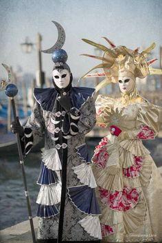 Carnival Costume, Venice, Italy, by Georgianna Lane Beautiful **+ Venetian Costumes, Venice Carnival Costumes, Venetian Carnival Masks, Mardi Gras Costumes, Carnival Of Venice, Venetian Masquerade, Masquerade Costumes, Masquerade Ball, Venice Carnivale