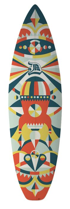 We created a custom design for Cape Town surfboard manufacturer Dutchie. In the past surfboards were hand painted but through the use of new techniques we were able to have our vector artwork reproduced perfectly onto the board.