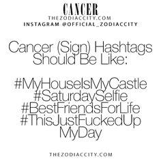 Zodiac Cancer Hashtags! TheZodiacCity.com - For more zodiac fun facts, click here.