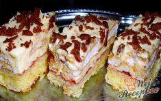 """Nebeská maňa - to je jeden z tých zákuskov čo sme mali na akcii """"Guláš """". Czech Recipes, Russian Recipes, Ethnic Recipes, German Recipes, No Bake Cake, Sweet Recipes, Sushi, French Toast, Sandwiches"""