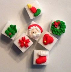 Amazon.com : Decorated Sugar Cubes - Christmas : Grocery & Gourmet ...