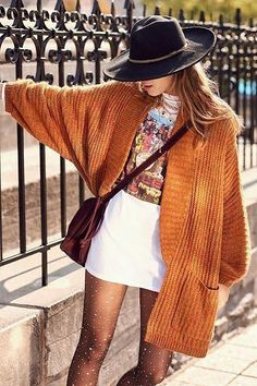Shop BDG Jesse Oversized Cardigan at Urban Outfitters today. We carry all the latest styles, colors and brands for you to choose from right here. Boho Outfits, Cardigan Outfits, Winter Outfits, Casual Outfits, Oversized Cardigan Outfit, Longline Cardigan, Cute Hippie Outfits, Orange Cardigan Outfit, Cardigan Fashion
