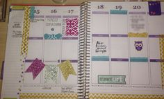 First weekly spread created. Erin Condren Life Planner.