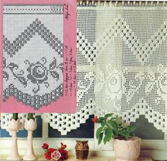Filet Crochet Valance