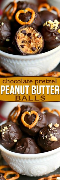 Peanut Butter Balls are taken to the next level with the addition of pretzels in this easy Chocolate Pretzel Peanut Butter Balls recipe. The creamy, crunchy, salty, sweet combination is the best of all worlds. Extra delicious and loaded with peanut butter