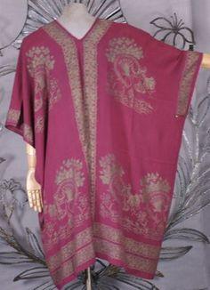 Rare Mariano Fortuny Silk Crepe Coat, Art Nouveau, Italy