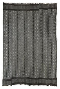 Africa | Wrapper (Seru Njaago), 1970s | Senegal, Saint-Louis; Manjaka peoples | Cotton, synthetic yarns