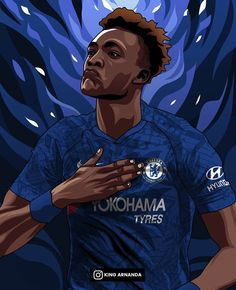 Chelsea Wallpapers, Chelsea Fc Wallpaper, Football Photos, Football Art, Tammy Abraham, Best Football Players, Steven Gerrard, Zinedine Zidane, Illustrators On Instagram