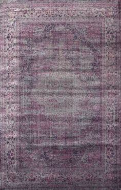 Rugs USA Beaumont Medallion VI04 Rug Something about this over-dyed lilac colored rug tells me it would look amazing with a gray sofa & brown leather side chairs