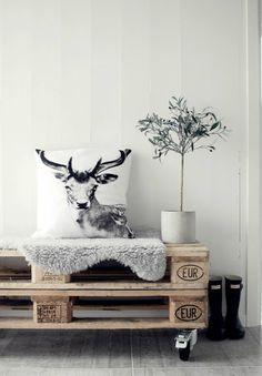 En cojín #Cabezas_ciervo #Deer_Deco
