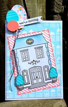 My Paper Epiphany: Winnie & Walter August Blog Hop - we're moving card by Jenny Martin featuring This Awesome House.  #winniewalter