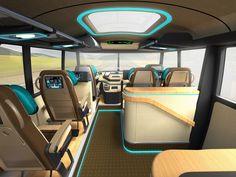 different renders of bus design