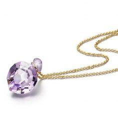 www.ORRO.co.uk - Annette Ehinger - Gold Amethyst Pendant Necklace - ORRO Contemporary Jewellery Glasgow