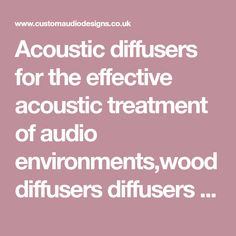 Acoustic diffusers for the effective acoustic treatment of audio environments,wood diffusers diffusers plastic diffusers polystyrene diffusers fabric covered diffusers Acoustic Diffuser, Audio Design, Diffusers, Fabric Covered, Plastic, Wood, Woodwind Instrument, Timber Wood