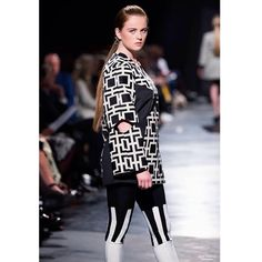 """#esmod #fashion #fw15 #catwalk"" From the collection ""perspective"" inspired by geometry and optical illusions. Design: Marte Treider"