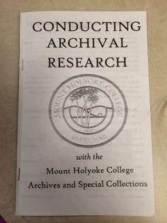 ASC research zine by Iris Parker Pavitt, '15.