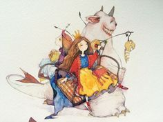 顺手拍的……像素太低……呵呵-那仁_水彩,插画,手绘,清新,色彩_涂鸦王国插画
