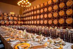 Wedding Reception in Barrel Room