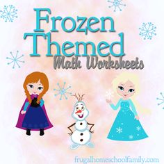 Download free Frozen-Themed Math Worksheets. There are three different printable packs: an addition pack, a subtraction pack, and a multiplication pack.