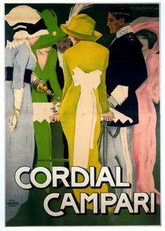 Marcello Dudovich poster for Campari