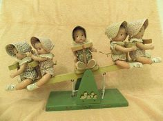 Madame Alexander Dionne Quintuplets on See-Saw