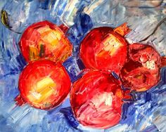 Buy Pomegranates, Oil painting by Olga Pascari on Artfinder. Discover thousands of other original paintings, prints, sculptures and photography from independent artists.