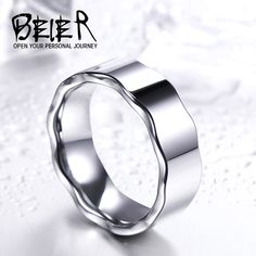 Top Quality Hight polished wave Tungsten ring for man women Wedding Jewelry Sea Glass Jewelry, Gold Jewelry, Jewelry Rings, Fine Jewelry, Jewelry Sets, Unique Jewelry, Bridesmaid Jewelry, Wedding Jewelry, Wedding Rings