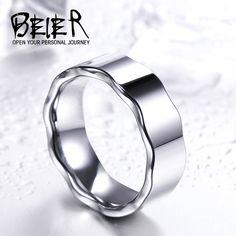 Top Quality Hight polished wave Tungsten ring for man women Wedding Jewelry Sea Glass Jewelry, Gold Jewelry, Jewelry Rings, Fine Jewelry, Women Jewelry, Jewelry Sets, Unique Jewelry, Bridesmaid Jewelry, Wedding Jewelry