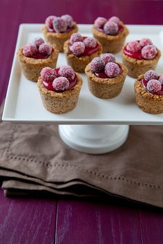 Cranberry Hazelnut Tartlets | Annie's Eats