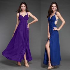 Spring 2014 new hot cheap free shipping European and American fashion temperament Slim Straight split Halter evening dress $99.99