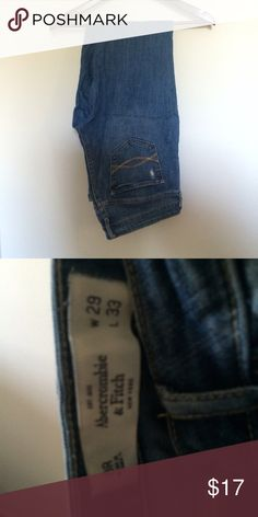 Abercrombie & Fitch jeans Excellent condition! Size 29 w 33 l. Same day shipping! Bundle discounts vary between items bought so just ask and I'll make you a deal  Abercrombie & Fitch Jeans