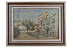 """José Maria de Almeida (1906 - 1995) - """"Rua do Passeio"""", o.s.t. - 38 x 55 cm. Assinado e dat"""