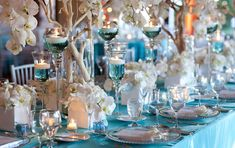 Turquoise Wedding Reception Decorations | of these simple but lovely ideas with you photo courtesy of karen tran ...