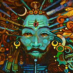 Shiva Tandav, Lord Shiva, Lord Murugan, Wheel Of Life, Om Namah Shivaya, God Pictures, Lord Ganesha, Gods And Goddesses, Mixed Media Art