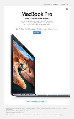 Если мы говорим о простоте дизайна и лаконичности идей, то нельзя не упомянуть Apple.  Apple сыграла наверное главное роль в популяризации данного тренда, возведя его в ранг философии компании.  Зачем нагружать собеседника тонной информации и распылять фокус? Можно просто заинтриговать его ключевым достоинством продукта.