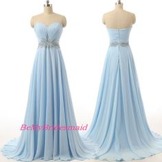 Processing+time:+2-3+weeks+ Shipping+Time:+3-5+business+days  Rush+order,+customs+size+and+color+is+available,+and+no+extra+cost.  Material:Chiffon+ Shown+Color:+Blue Hemline:Floor++Length+ Embellishments:+Beadings Neckline:+Sweetheart  For+Custom+Size,+Please+leave+following+measureme...